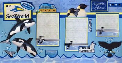 Sea World Vacation 2 Premade Scrapbook Pages Paper Piecing 4 Album by Cherry | eBay