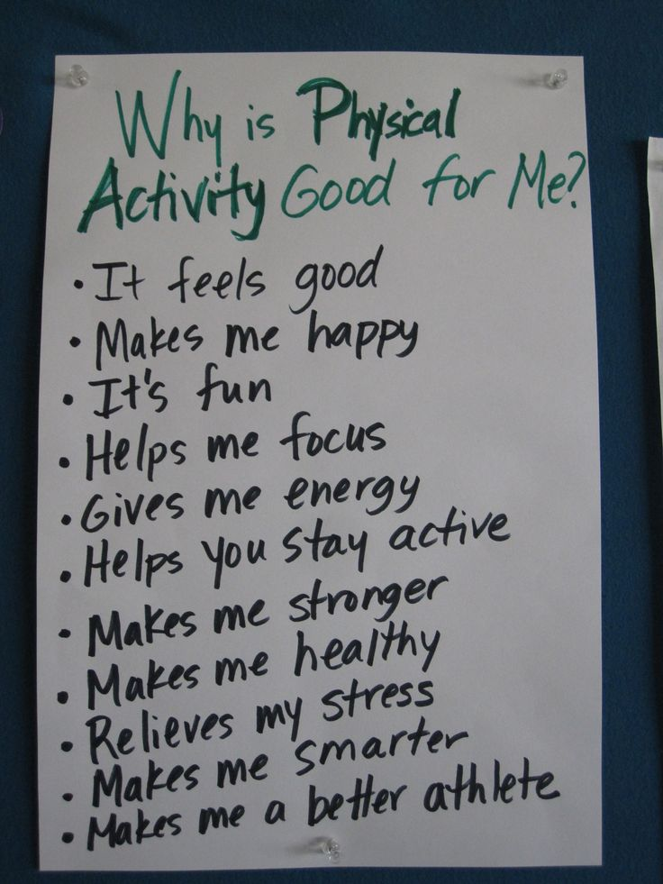 Before integrating any movement program or activities into the classroom, help students understand why physical activity is good for their bodies and minds. Record their responses and post them in the classroom as a public record and commitment to keep on