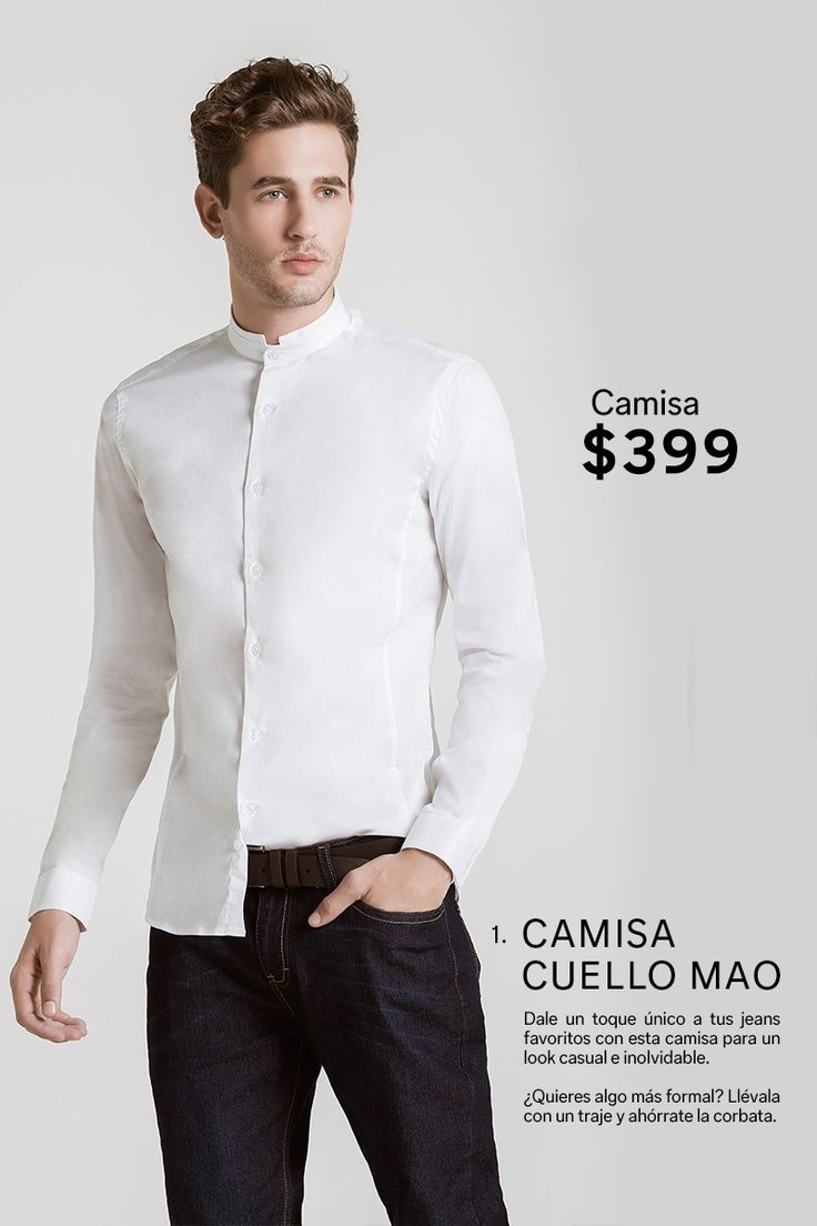 17 Best ideas about Camisa Cuello Mao Hombre on Pinterest ...