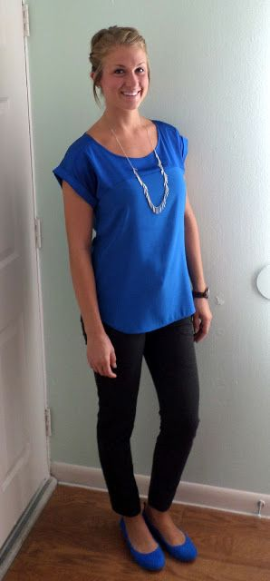 17 Best ideas about Blue Blouse Outfit on Pinterest | Royal blue ...