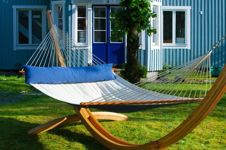 maui double hammock mariner with spreader bars by emilyhannah ltd | notonthehighstreet.com like this wooden frame