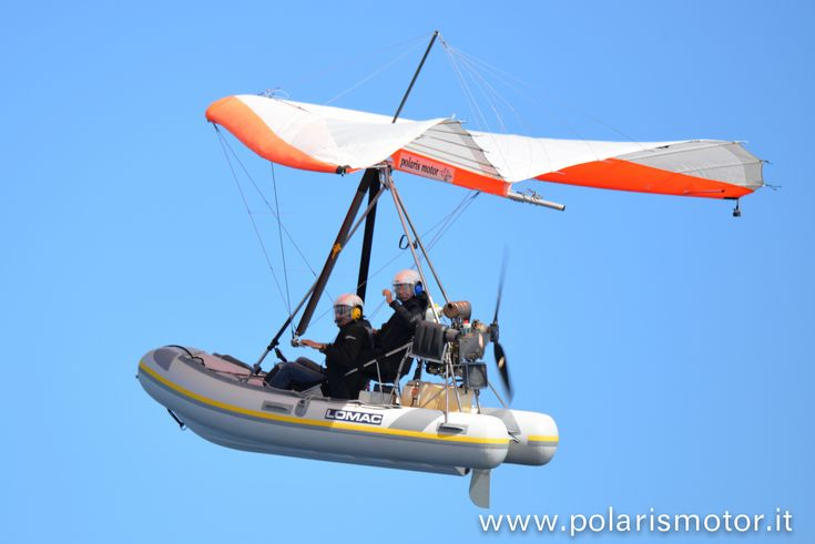 #Flying #inflatable #boat - Polaris Motor #microlight - powered hang glider - #deltaplano a motore - flexwing - #trike - made in #italy - polaris motor