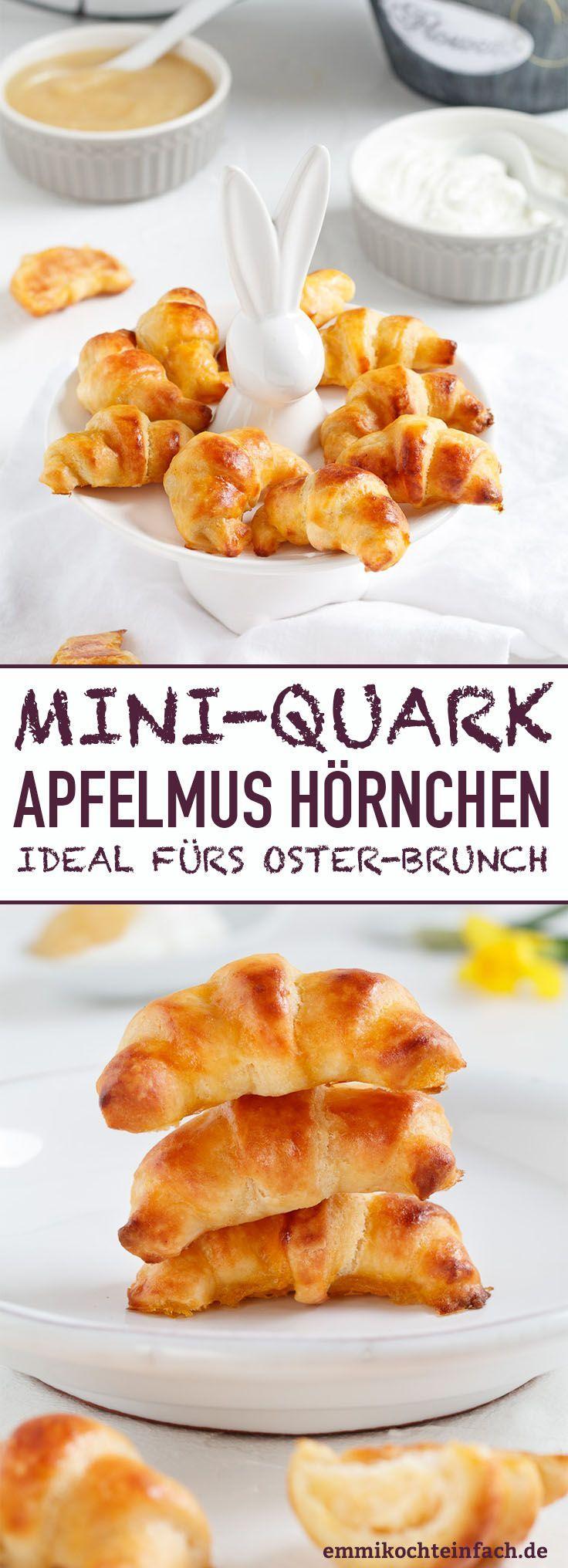 Mini Quark Apfelmus Croissants   – easter recipes dessert