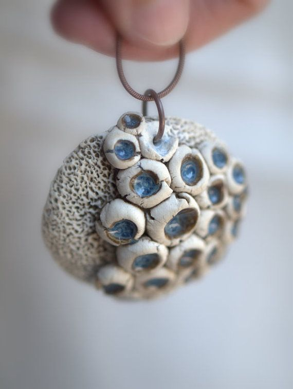 After the Rain  A funky fungi pendant. by peifferStudios on Etsy     reminds me of barnacles on beach rocks