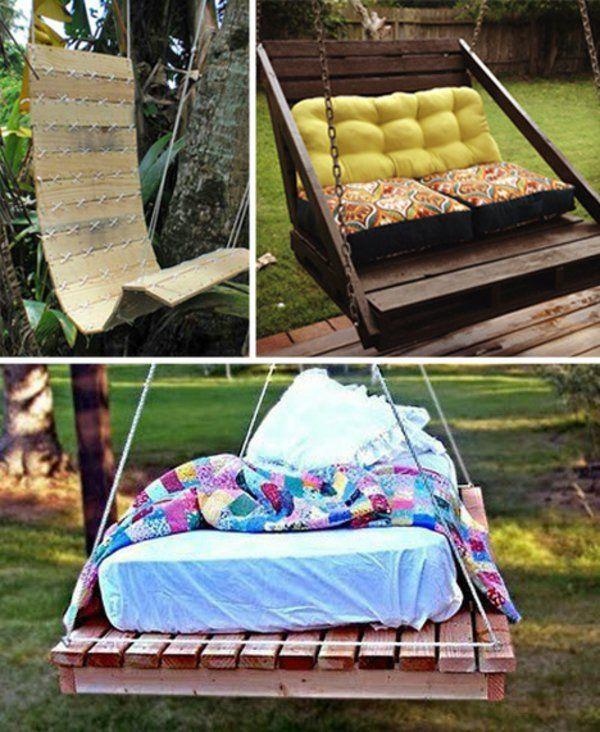 holz paletten möbel bastelideen DIY cool matratze