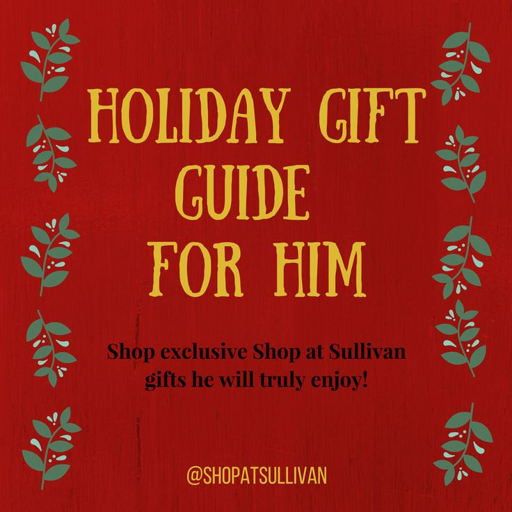 Having a hard time finding the right gift for him? We are here to help. Our Shop at Sullivan Gift Guide For Him will have the perfect gift he will surely love. Click on the link below and take a look.   http://anneofgreengables.com/articles/holiday-gift-guide-for-him/  #shopatsullivan #sullivanentertainment #classics #anne