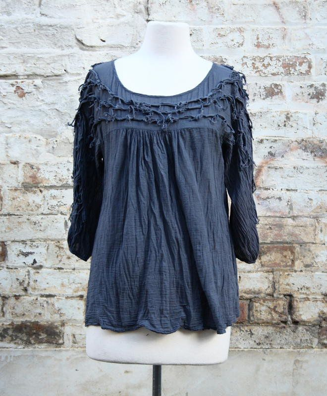 Bobbly top with Scrunched Bustline in Charcoal   Women's Fashion   Dresses, Tops and more   Et La Mer