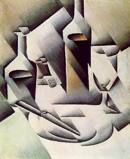 "Juan Gris ""Jarra, botella y vasco"" 1911 (Cubismo Hermético)"