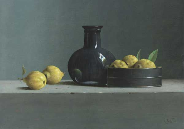 Leo Pors oil 'Still Life with Quinces'