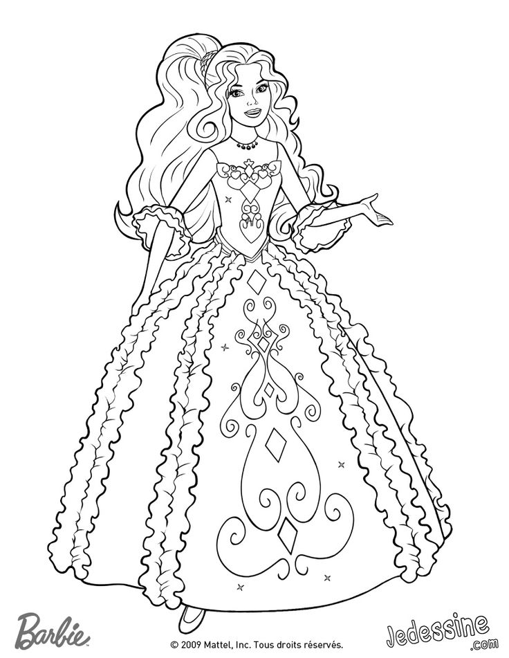 356 best Barbie colouring Page images on Pinterest ...