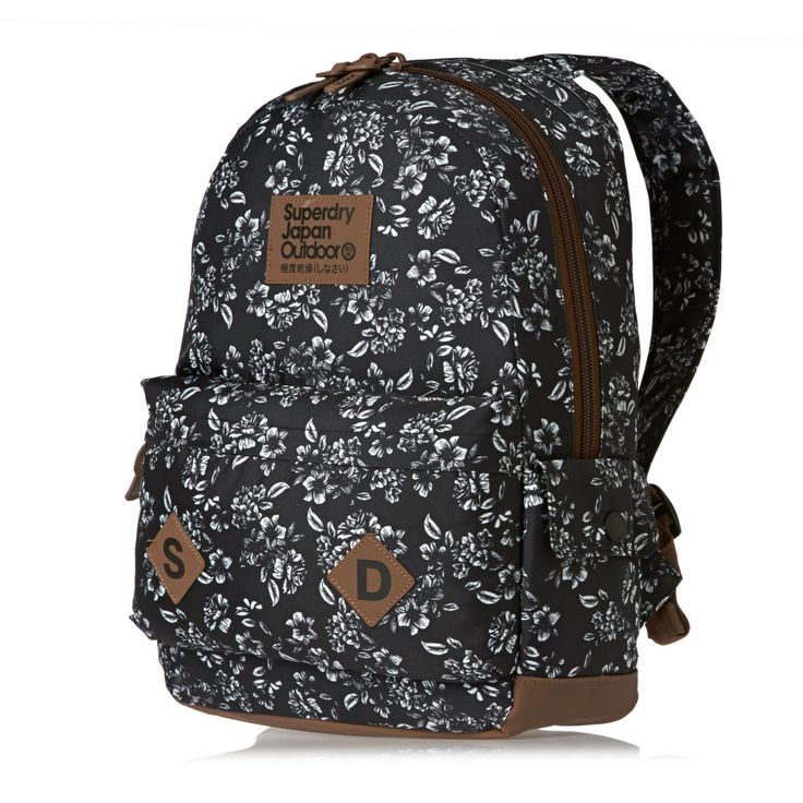 Superdry Freja Montana Backpack - Black Floral