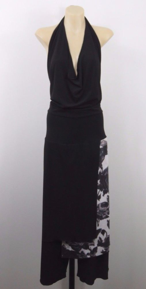 Size L 14 Thompson Ladies Black Pantsuit Evening Cocktail Wedding Chic Design #Thompson #DressPants #Cocktail