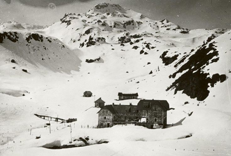 Das Seekarhaus in Obertauern anno dazumal.