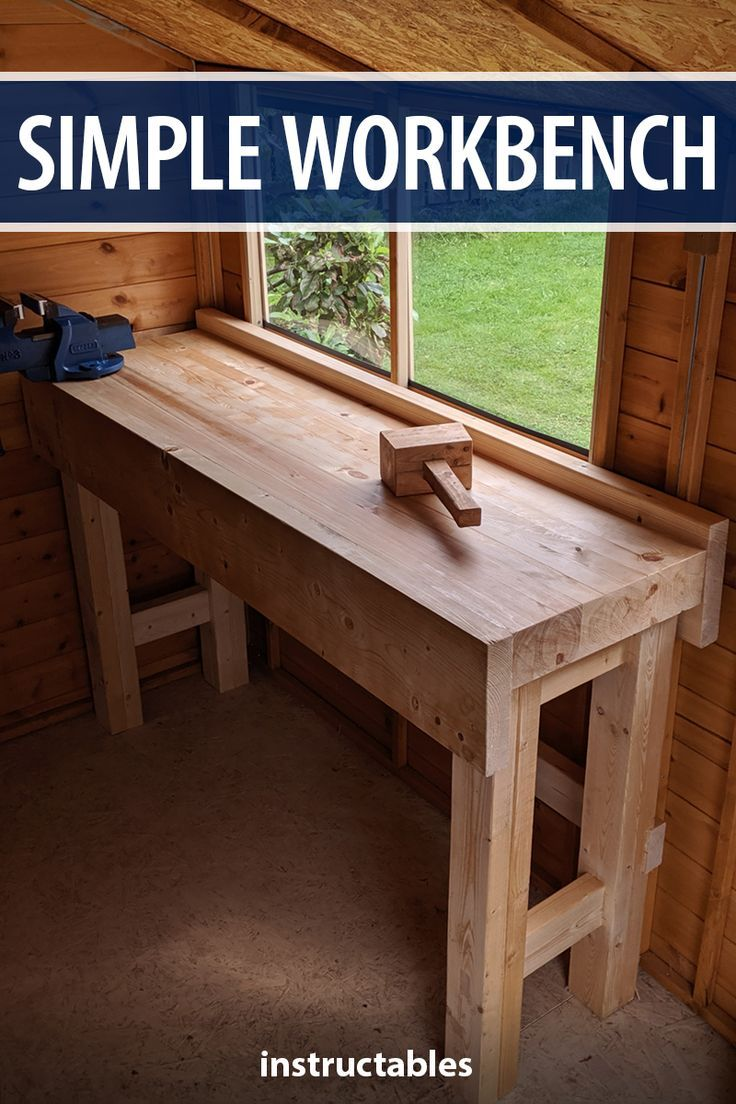 Make A Simple Slim And Sturdy Workbench From Softwood