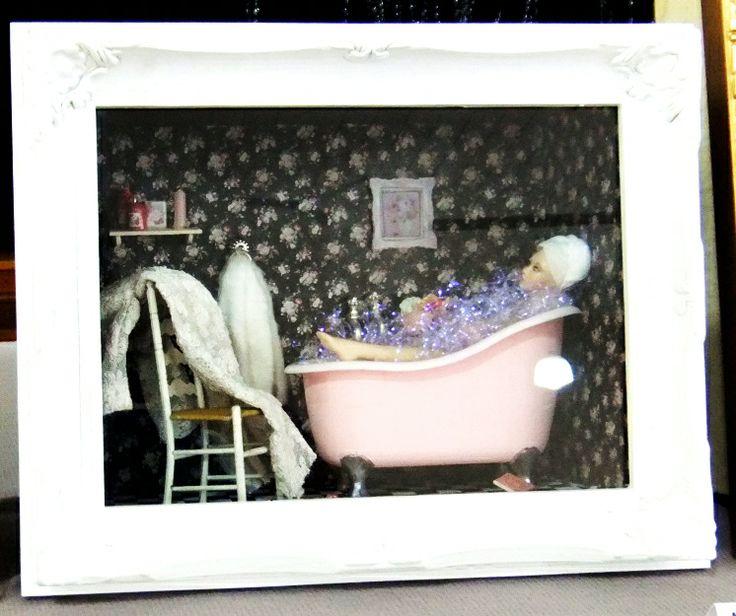 Feminine bathroom by Mez Lady with pretty feet by Dianne Yunnie.