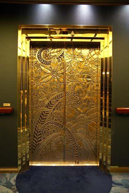 On Board the Noordam: Elevator. Library, Clubroom