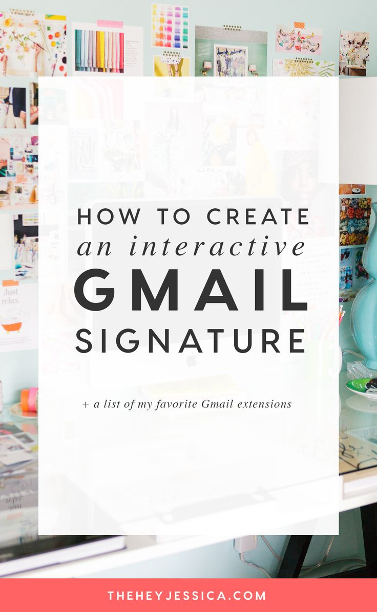 """Interactive Gmail Signature  Something I get asked a lot is """"how did you get your email signature that way?""""  And, guess what, it's SO easy!  Oh, and if you're using Gmail for your business withOUT some of the amazing extensions out there, you're missing out. I've put together a FREE guide just for YOU that outlines the most used extensions and what they do!"""