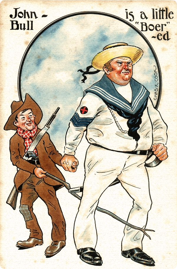 New York Life-Day by Day: The South African BOER WAR 1899-1902 John Bull is a little Boer-ed.