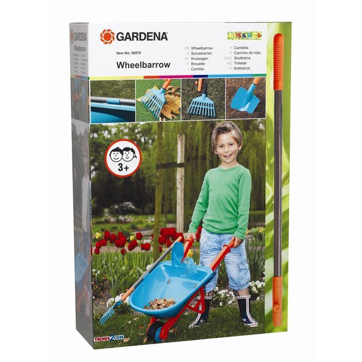 Gardena Kids Plastic Wheelbarrow With Tools | Bunnings Warehouse