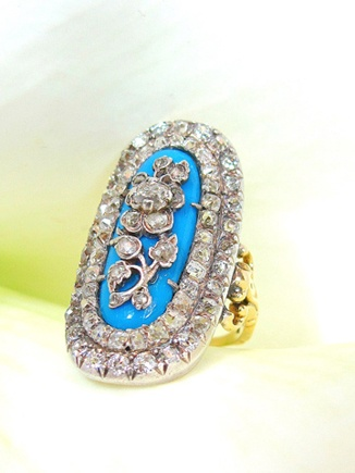 RARE, VERY PRECIOUS ANTIQUE RING, GEORGIAN ABOUT 1820,