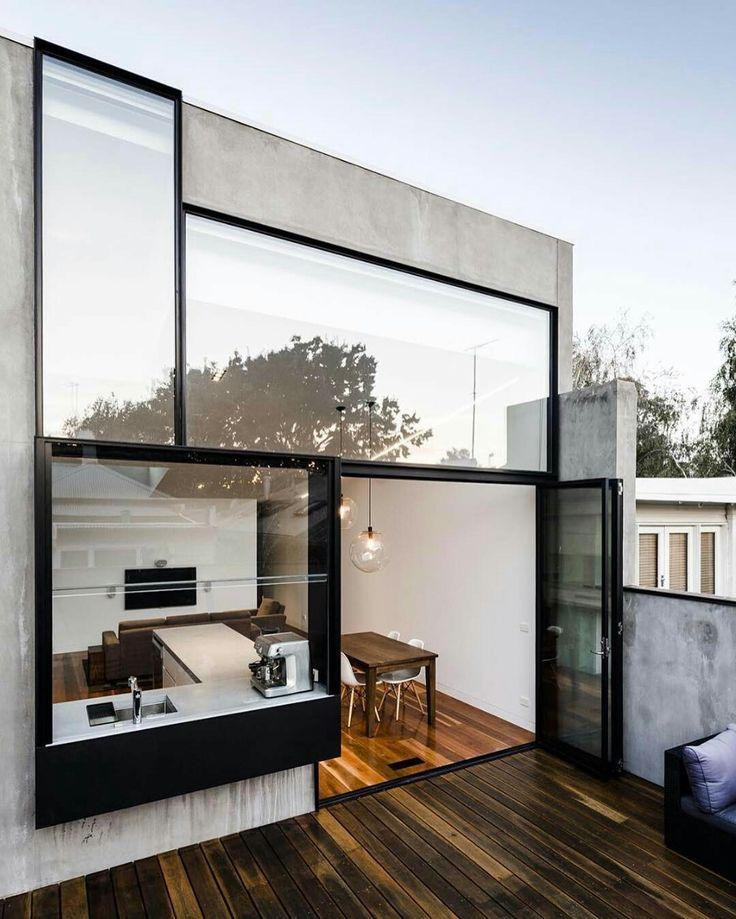 Hausfassade, Anbau, Wohnen, Architektur Design, Minimalistische  Architektur, Erstaunliche Architektur, Haus Design, Haus Ideen, Garten