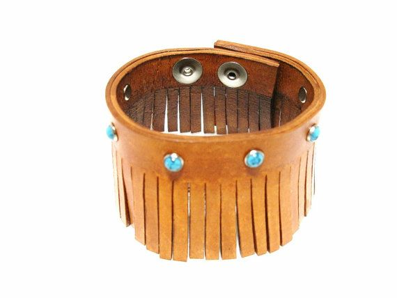 Brown Leather Bracelet Cuff  Brown Leather by ChristyKeysCreations, $32.00