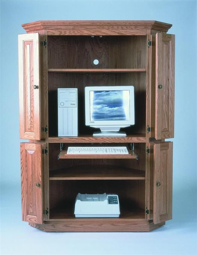 amish corner computer armoire desk