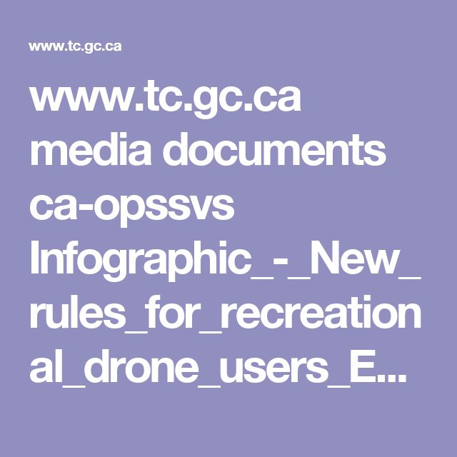 www.tc.gc.ca media documents ca-opssvs Infographic_-_New_rules_for_recreational_drone_users_EN_2.pdf