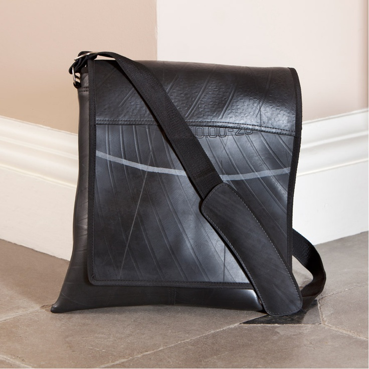 Traidcraft - Recycled Tyre Messenger Bag - Fair Trade £32.95