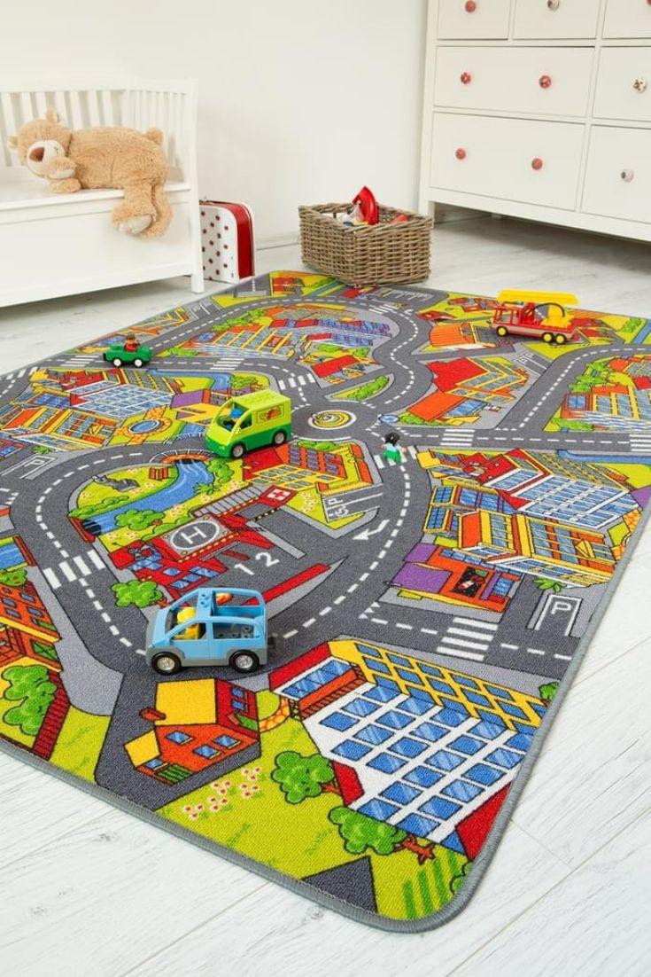 Kinderteppich 140 x 200 cm Straßenteppich City Autoteppich ...