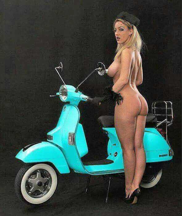 vespa and nude girl