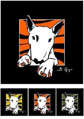 Bulli Bild Bull Terrier Bullterrier pop-dogs Pop Art 3x Fotoposter Kunstdruck in Haustierbedarf, Hunde, Training & Gehorsamkeit | eBay