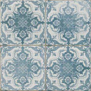 carrelage imitation carreau ancien bleu 45x45 cm - 27,90€