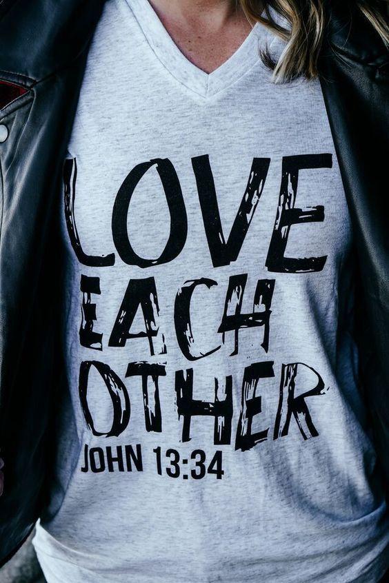 Love Each Other (John 13:34) Tee