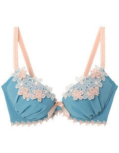 Vintage Lace Bra – could use similar flowers for embellishment