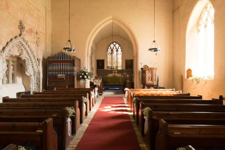 Inside the beautiful St Mary's Church in Belchamp Walter. Get married here in the Church before wandering over for celebrations at the hall! #church #weddings