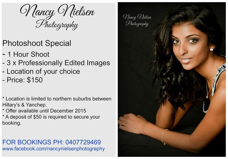 Perth Photoshoot Special $150