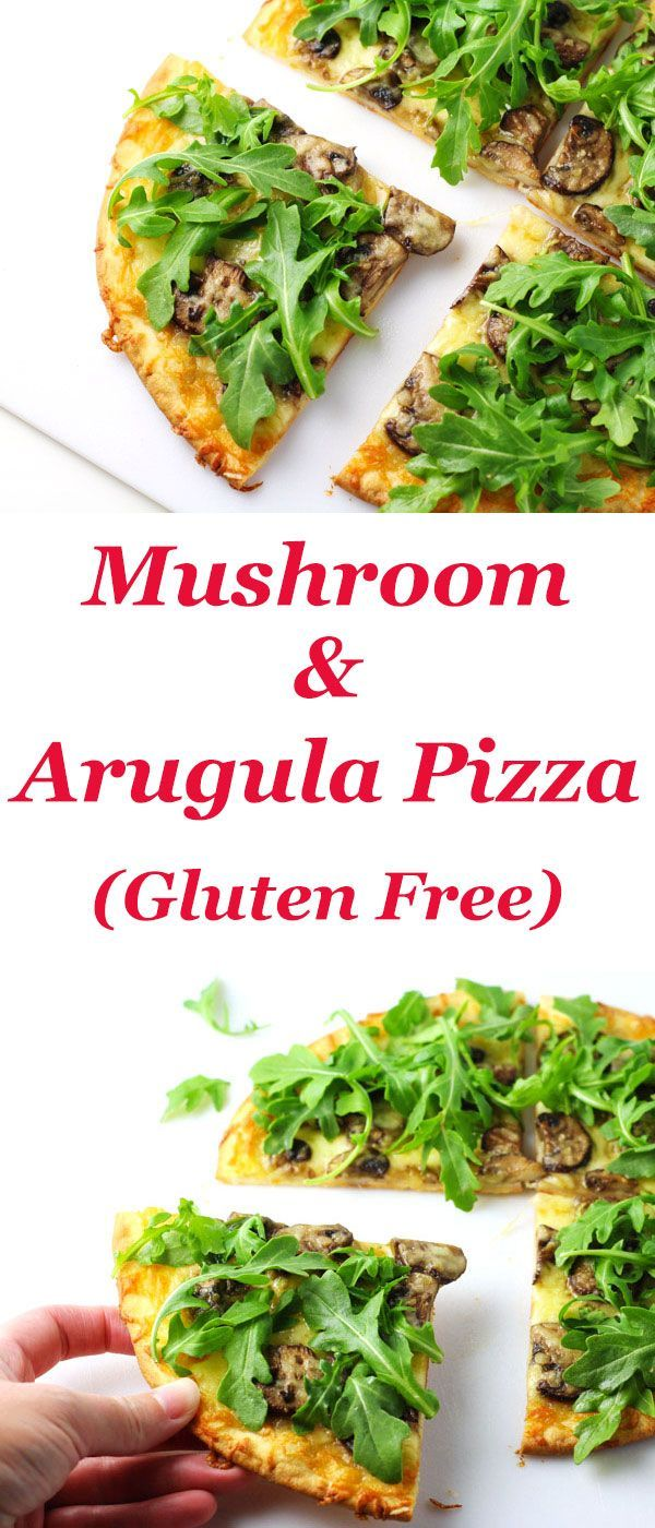 nice Mushroom and Arugula Pizza (Gluten Free) - This is such a simple and healthy piz...