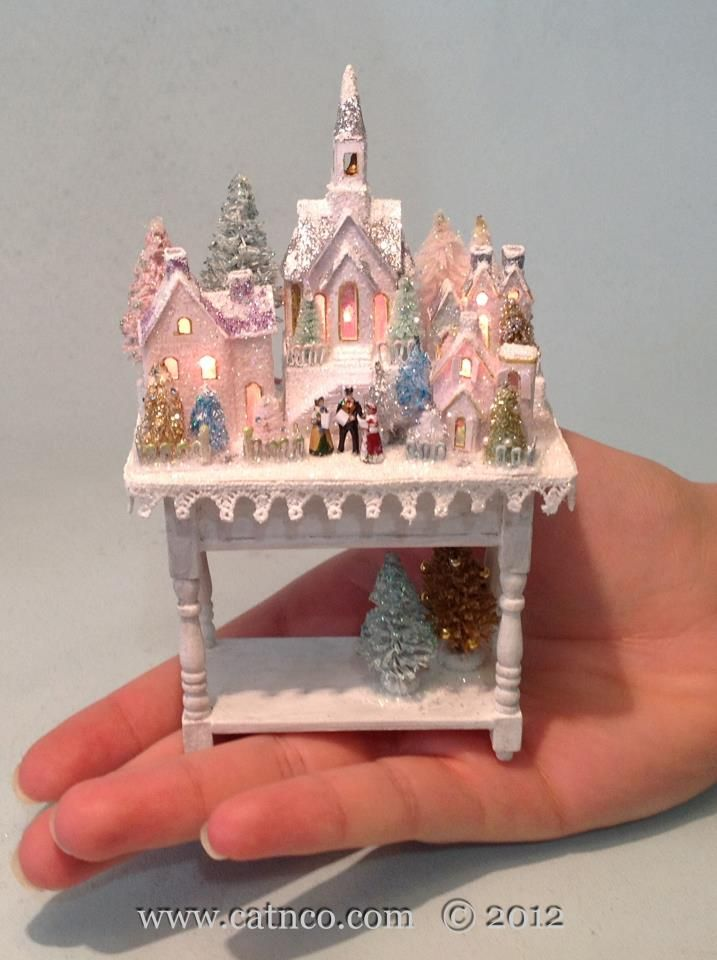 Glitter House Village 1/12th scale Designed and made by Merle Catherine Mather