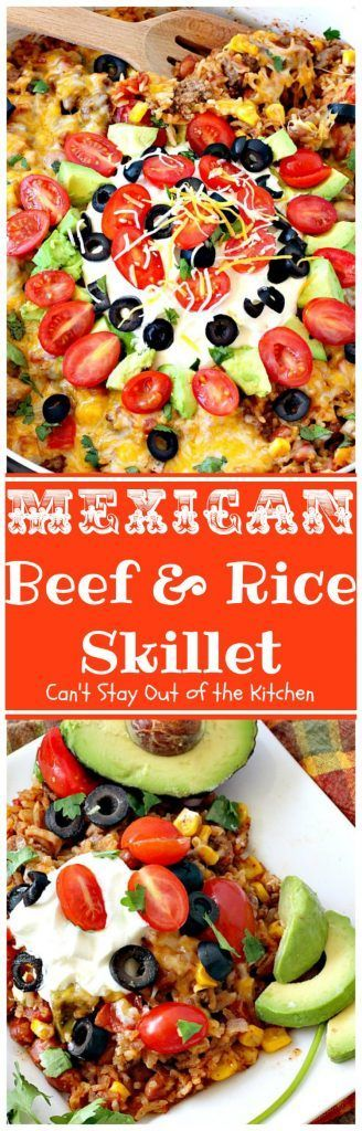 Gluten Free Living – 2017 Words cannot adequately express how amazing this Mexican Beef and Rice Skillet entree is. This one-skillet supper dish is one of the best recipes I've come across in some tim
