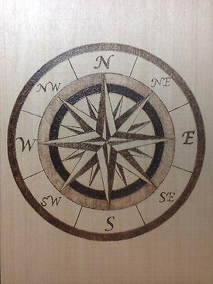 Nautical Compass Pyrography