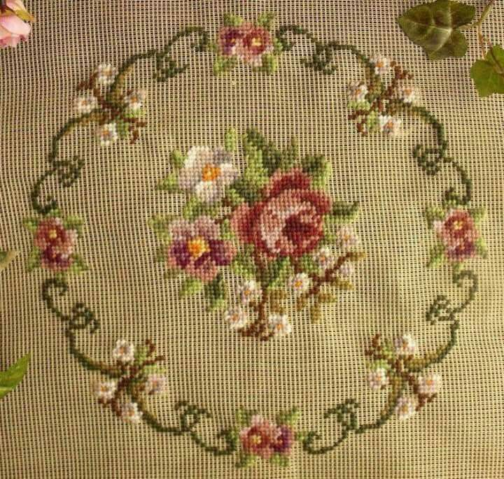 Vintage Handwork embroider woo  