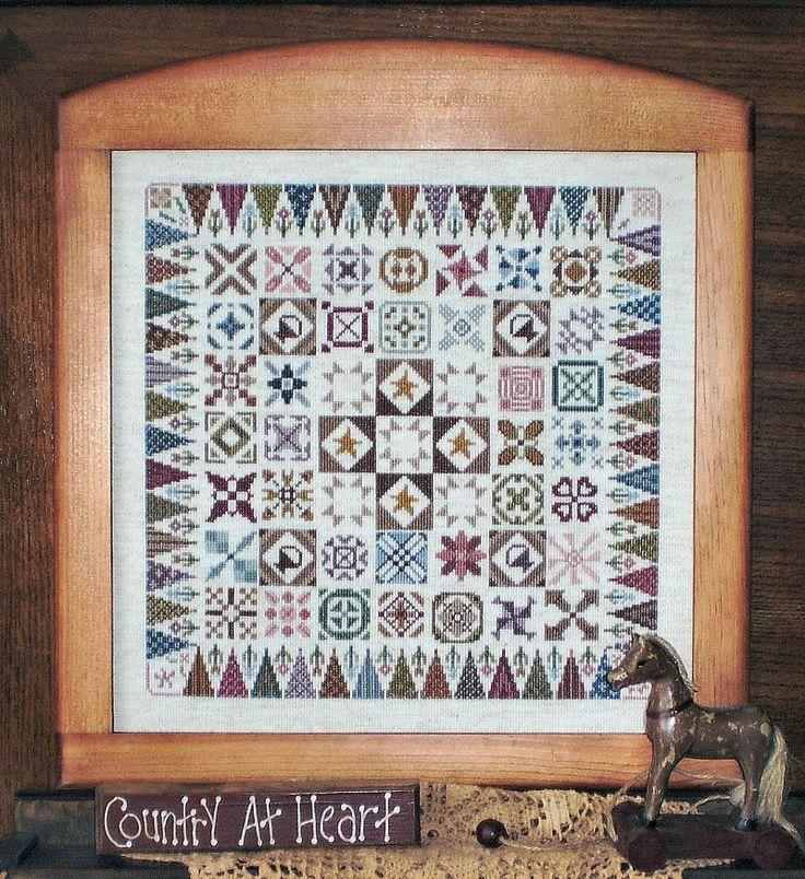 """Country Jane"" cross stitch sampler pattern by linda Myers"