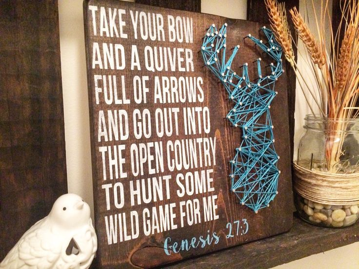 A personal favorite from my Etsy shop https://www.etsy.com/listing/265160734/bow-and-quiver-bible-verse-wooden-sign