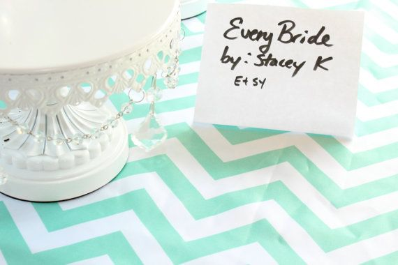 MINT Green Chevron Table Runner, Wedding Reception, mint chevron tablecloth, turquoise teal mint green, Many sizes colors , CUSTOM sizes