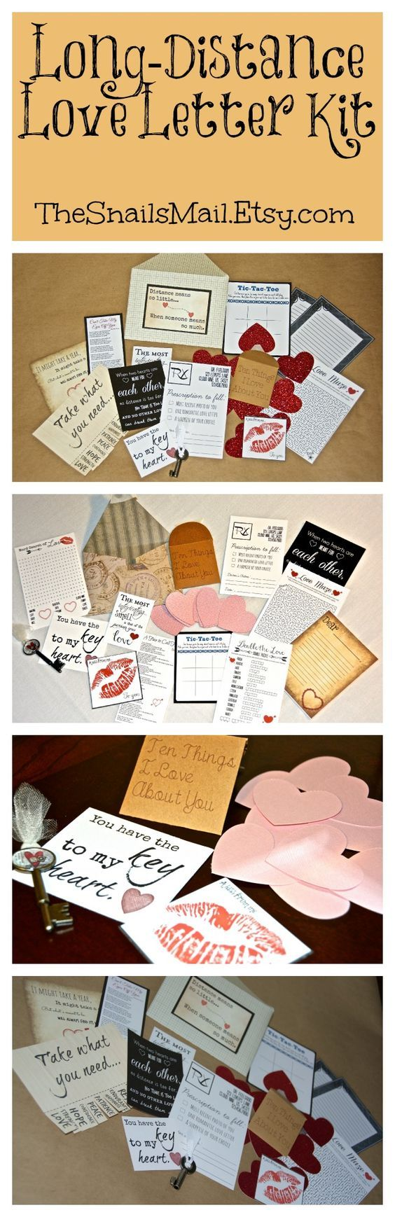 A Long-Distance Relationship Love Letter Kit. Perfect for that special someone you can't see every day!: