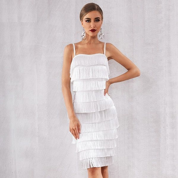 Women Vestidos Tassel Club Party Dress  – TDMercado | Sexy Outfits Collection | Sexy Style dresses |
