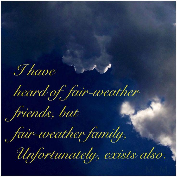 Weather Quotes: Best 25+ Fair Weather Friends Ideas On Pinterest