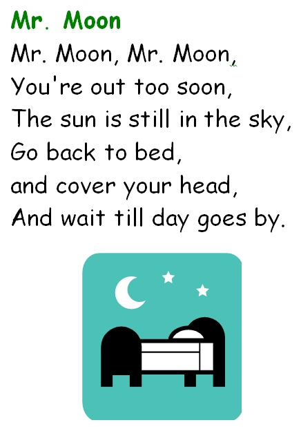 astronomy poems that rhyme - photo #26