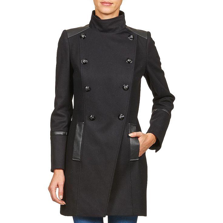 Manteau Femme Spartoo, achat Manteau Naf Naf ALLYO Noir prix promo Spartoo 149,00 € TTC